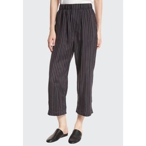 Vince Slouchy Pull On Stripe Crop Pants